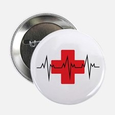 "MEDICAL CROSS 2.25"" Button (10 pack)"