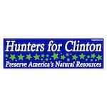 Hunters for Clinton 2008 bumper sticker