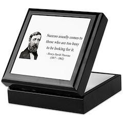 Henry David Thoreau 29 Keepsake Box