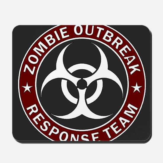 Zombie Outbreak Response Team - Red Mousepad