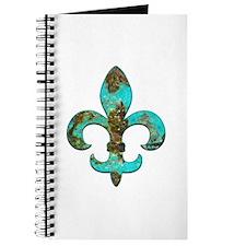 Turquoise Fleur de lis Journal