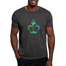 Turquoise Fleur de lis T-Shirt