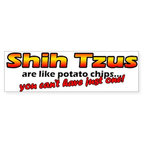 Potato Chips Shih Tzu Bumper Sticker