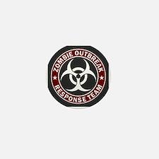 Zombie Outbreak Response Team - Red Mini Button