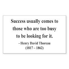 Henry David Thoreau 29 Rectangle Decal