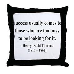 Henry David Thoreau 29 Throw Pillow