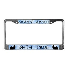 Crazy About Shih Tzus License Plate Frame