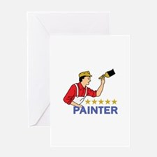 FIVE STAR PAINTER Greeting Cards