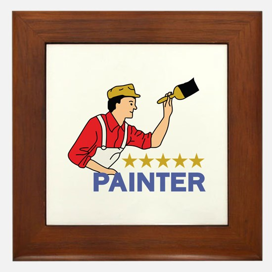 FIVE STAR PAINTER Framed Tile