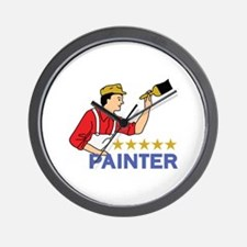 FIVE STAR PAINTER Wall Clock