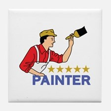 FIVE STAR PAINTER Tile Coaster