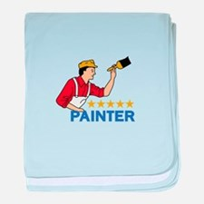 FIVE STAR PAINTER baby blanket