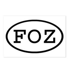 FOZ Oval Postcards (Package of 8)