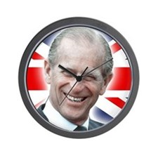 HRH Prince Philip - Great Britons! Wall Clock