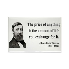Henry David Thoreau 30 Rectangle Magnet (10 pack)