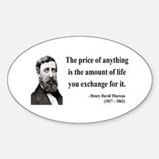 Henry David Thoreau 30 Oval Decal
