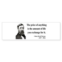 Henry David Thoreau 30 Bumper Bumper Sticker