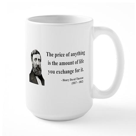 Henry David Thoreau 30 Large Mug