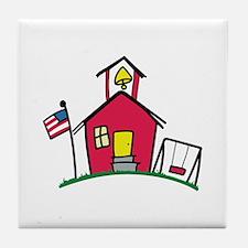 SCHOOL HOUSE Tile Coaster