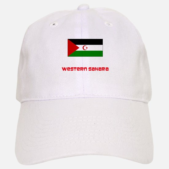 Western Sahara Flag Retro Red Design Cap