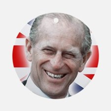 HRH Prince Philip - Great Britons Ornament (Round)