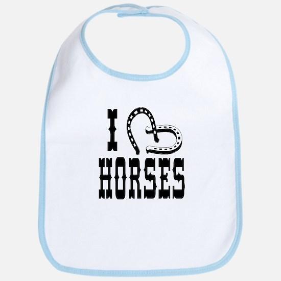 I Heart Horses Bib