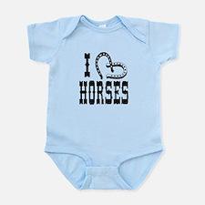 I Heart Horses Infant Bodysuit
