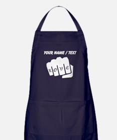 Love Knuckle Tattoo (Custom) Apron (dark)