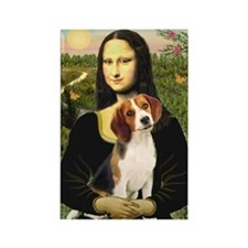 Mona Lisa & Beagle Rectangle Magnet