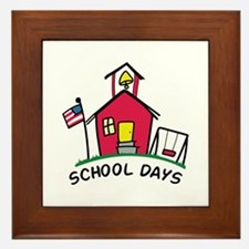 SCHOOL DAYS Framed Tile