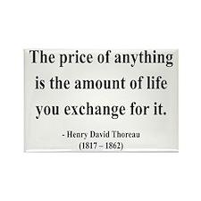 Henry David Thoreau 30 Rectangle Magnet