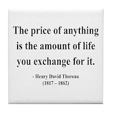 Henry David Thoreau 30 Tile Coaster