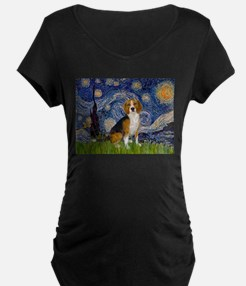 Starry Night & Beagle T-Shirt