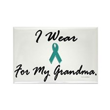I Wear Teal For My Grandma 1 Rectangle Magnet
