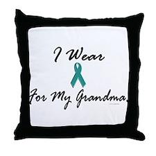 I Wear Teal For My Grandma 1 Throw Pillow