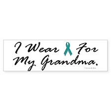 I Wear Teal For My Grandma 1 Bumper Bumper Sticker