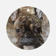 I LUV FRENCHIES Round Ornament