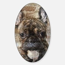 I LUV FRENCHIES Sticker (Oval)