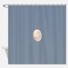 Waxing Gibbous Almost Full Moon Shower Curtain
