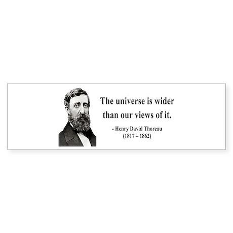 Henry David Thoreau 31 Bumper Sticker