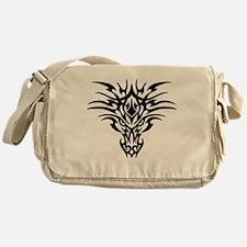 Tribal dragon face Messenger Bag