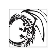 "Tribal Dragon Square Sticker 3"" x 3"""