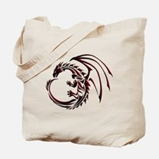 Tribal Dragon Red & Black Tote Bag