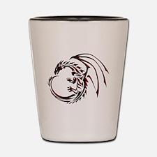 Tribal Dragon Red & Black Shot Glass