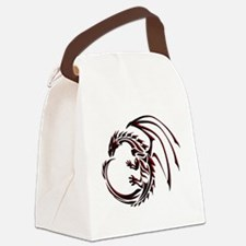 Tribal Dragon Red & Black Canvas Lunch Bag
