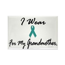 I Wear Teal For My Grandmother 1 Rectangle Magnet