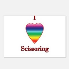 I love scissoring Postcards (Package of 8)