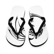Tribal Dragon Flip Flops