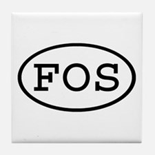 FOS Oval Tile Coaster