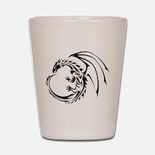 Tribal Dragon Shot Glass